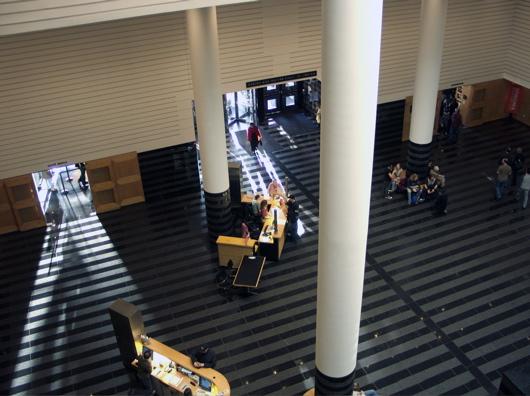 Photo - Looking down Haas Atrium