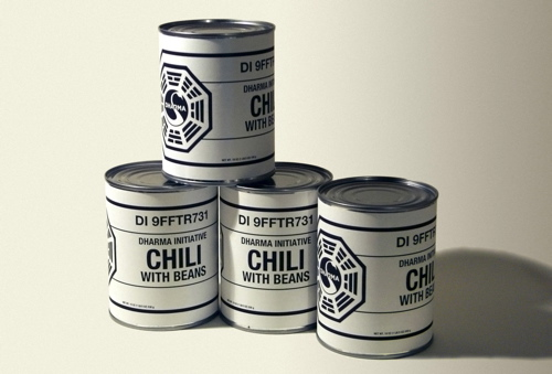 Photo of cans of DHARMA Initiative Chili with Beans
