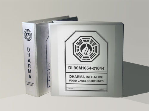 Make your own DHARMA Initiative binders